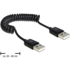 DELOCK kábel  USB 2.0-A M/M  spirál  20-60cm