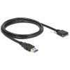 DELOCK Kábel USB 3.0 A típusú dugó > USB 3.0 Micro-B típusú dugó csavarokkal ellátott 1 m