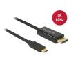 DELOCK kábel USB Type-C male to Displayport male (DP Alt Mode) 4K 60Hz, 2m