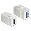 DELOCK Keystone modul USB 3.0 A anya> USB 3.0 A anya
