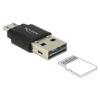 DELOCK Micro USB OTG Card Reader + USB 2.0 A male