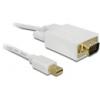 DELOCK mini DisplayPort - VGA kábel 5 m (fehér)