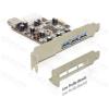 DELOCK PCI-e Bővítőkártya 3x külső + 1x belső USB 3.0 port
