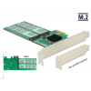 DeLOCK PCIe x2>4x M2 Key B Low Profile Adapter (89588)