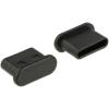 DELOCK Porvédo USB Type-C™ kimenethez fogantyú nélkül 10 darab fekete