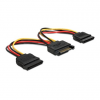 DELOCK SATA Power -> 2 SATA Power M/F adapter