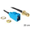 DELOCK SMA -> FAKRA Z M/M antenna kábel 0.2m fekete