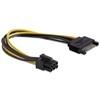 DELOCK tápkábel PCI Express VGA kártyához (1 x Sata / 1 x 6 pin)