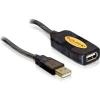 DELOCK USB 2.0 hosszabbító kábel, aktív, 5m