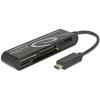 DELOCK USB 2.0 kártyaolvasó USB Type-C bementi csatlakozóval 5 nyílással