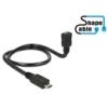 DELOCK USB 2.0 mikro kábel 50 cm (mikro-B aljzat / mikro-B dugó, OTG)