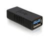 DELOCK USB 3.0 A F/F adapter fekete