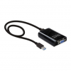 DELOCK USB 3.0 A -> VGA M/F adapter fekete