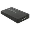 DELOCK USB 3.0 Micro-B DisplayPort Átalakító Fekete 40cm 62581