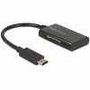 DELOCK USB 3.1 Gen 1 kártyaolvasó USB Type-C bementi csatlakozóval 4 nyílással