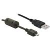 DELOCK USB A -> USB micro B M/M adatkábel 2m fekete