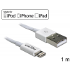 DELOCK USB data and power cable for iPhone  iPad  iPod white