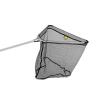 Delphin merítőhalló fém fejcsatlakozással gumírozott hálloval-60x60/170cm