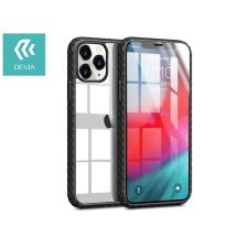 Devia Apple iPhone 12 Pro Max ütésálló hátlap - Devia Shark-4 Series Shockproof Case - black/transparent tok és táska