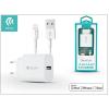 Devia Apple iPhone 5/5S/5C/SE/iPad 4/iPad Mini USB hálózati töltő adapter + lightning adatkábel (MFI engedélyes) - 5V/2,1A - Devia Smart Fast Charger Suit - white