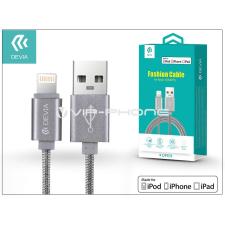 Devia Apple iPhone 5/5S/5C/SE/iPad 4/iPad Mini USB töltő- és adatkábel - 1,2 m-es vezetékkel (Apple MFI engedélyes) - Devia Fashion Cable Lightning - grey tablet tok