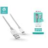 Devia Apple iPhone 5/5S/5C/SE/iPad 4/iPad Mini USB töltő- és adatkábel - 1 m-es vezetékkel - Devia Pheez Lightning USB 2.4A - silver