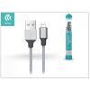 Devia Apple iPhone 5/5S/5C/SE/iPad 4/iPad Mini USB töltő- és adatkábel - 1 m-es vezetékkel - Devia Tube Lightning USB 2.4A - silver/blue