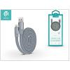 Devia Apple iPhone 5/5S/5C/SE/iPad 4/iPad Mini USB töltő- és adatkábel 80 cm-es vezetékkel - Devia Ring Y1 Lightning USB 2.4 - grey