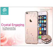 Devia Apple iPhone 6/6S hátlap Swarovski kristály díszitéssel - Devia Crystal Engaging - champagne gold tok és táska