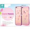 Devia Apple iPhone 6/6S hátlap Swarovski kristály díszitéssel - Devia Crystal Flowery - rose pink