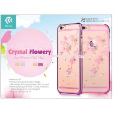 Devia Apple iPhone 6/6S hátlap Swarovski kristály díszitéssel - Devia Crystal Flowery - rose pink tok és táska