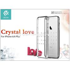Devia Apple iPhone 6/6S hátlap Swarovski kristály díszitéssel - Devia Crystal Love - silver tok és táska