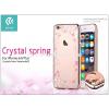 Devia Apple iPhone 6/6S hátlap Swarovski kristály díszitéssel - Devia Crystal Spring - champagne gold