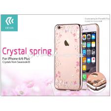 Devia Apple iPhone 6/6S hátlap Swarovski kristály díszitéssel - Devia Crystal Spring - champagne gold tok és táska