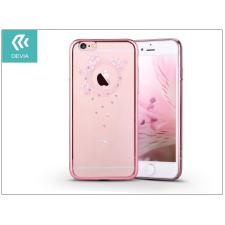 Devia Apple iPhone 6 Plus/6S Plus hátlap Swarovski kristály díszitéssel - Devia Crystal Garland - rose pink tok és táska