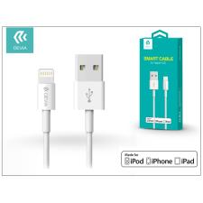 Devia Apple iPhone Lightning USB töltő- és adatkábel - 1 m-es vezetékkel (Apple MFI eng.) - Devia Smart Cable Lightning - white kábel és adapter