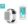 Devia Apple Watch lyukacsos sport szíj - Devia Deluxe Series Sport2 Band - 42/44 mm - white/black