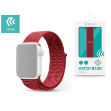 Devia Apple Watch lyukacsos sport szíj - Devia Deluxe Series Sport3 Band - 38/40 mm - red tok és táska