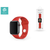 Devia Apple Watch lyukacsos sport szíj - Devia Deluxe Series Sport Band - 42/44 mm - red