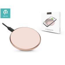 Devia Devia Qi univerzális vezeték nélküli töltő állomás - 5V/1A - Devia Aurora V2 Wireless Charger - rose gold - Qi szabványos mobiltelefon kellék