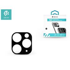 Devia Hátsó kameravédő borító + lencsevédő edzett üveg - Apple iPhone 11 Pro - Devia Glimmer Series 3D Camera Tempered Glass - black mobiltelefon kellék
