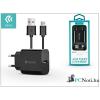 Devia ST301186 Smart 2.1A univerzális fekete hálózati töltő + Mirco USB kábel