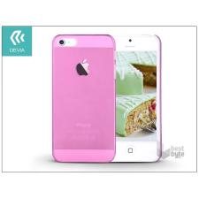 Devia ST983857 Smart iPhone 5/5S/5SE Crystal rózsaszín hátlap tok és táska