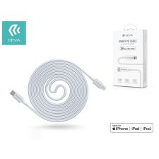 Devia USB Type-C - Lightning adat- és töltőkábel 1,5 m-es vezetékkel - Devia Smart SeriesPD Cable 18W Type-C to Lightning - white (MFI engedélyes) kábel és adapter