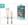 Devia USB - USB Type-C adat- és töltőkábel 1 m-es vezetékkel - Devia Fashion USB Type-C Cable - gold