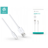 Devia USB - USB Type-C adat- és töltőkábel 1 m-es vezetékkel - Devia Kintone USB Type-C Cable - white