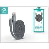 Devia USB - USB Type-C adat- és töltőkábel 80 cm-es vezetékkel - Devia Ring Y1 USB Type-C 2.4 Cable - grey