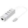Digitus DA-70253 USB 2.0 3-Port Hub & Fast Ethernet LAN Adaptor