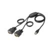 Digitus USB2.0/2 x RS232 (DB9M) konverter kábel  5 LGW