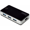 Digitus USB 3.0 Hub, 4-port fekete